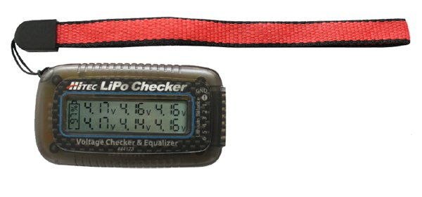 Hitec LiPo Battery Checker with Built-in Balancer